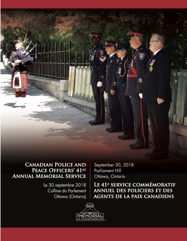MemorialPoster2018 796x1024 Canadian Police & Peace Officers Memorial *30Sep2018 * Commémoration des policiers et agents de la paix canadiens