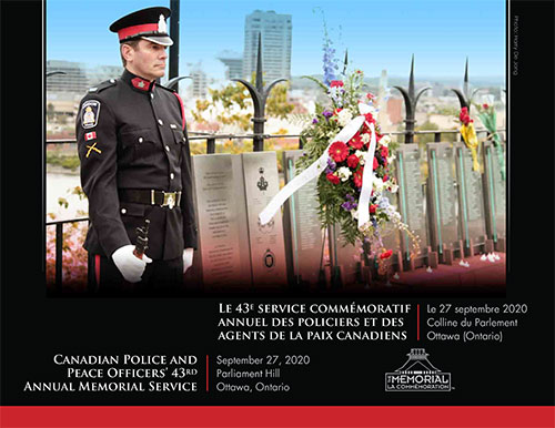 MemorialPoster2020 CPPOM.ca/Live   Watch 2020 Canadian Police and Peace Officers' Memorial Service Live 11am Sunday September 27