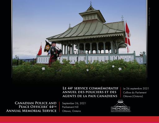 CPPOMPoster2021 2021 Virtual Canadian Police and Peace Officers' Memorial Service * Service commémoratif virtuel des policiers et agents de la paix canadiens 2021